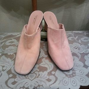 New Pink Suede Rockport Slip On Shoes